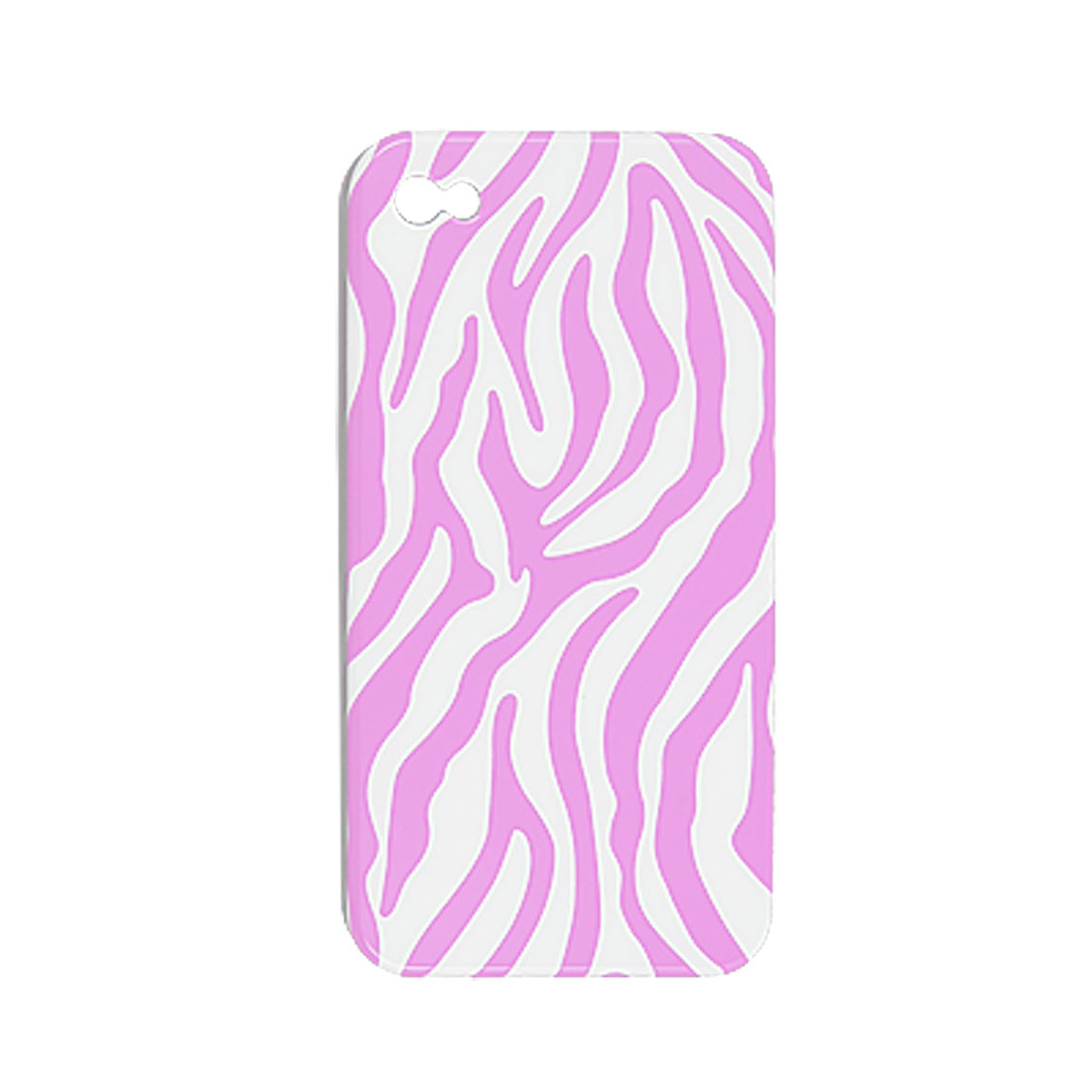Ultra Pink Zebra Style Hard Back Case Shell for iPhone 4 4G