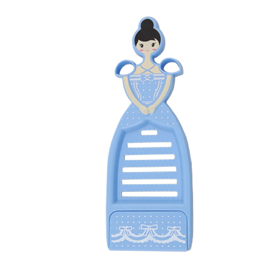 Blue Plastic Stainless Steel Princess Style Peeler