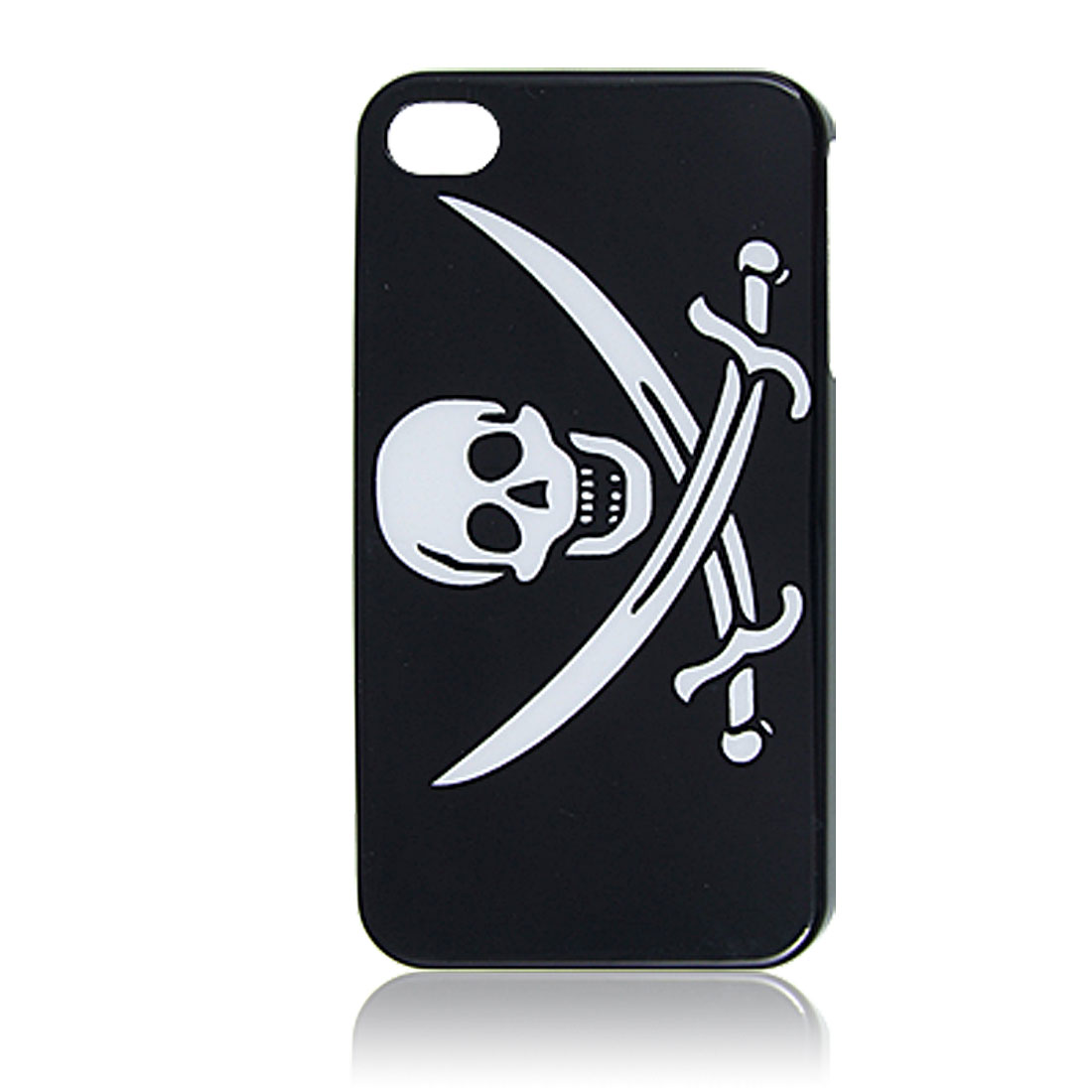 Cross Skull Head Pattern Back Case for iPhone 4 4G