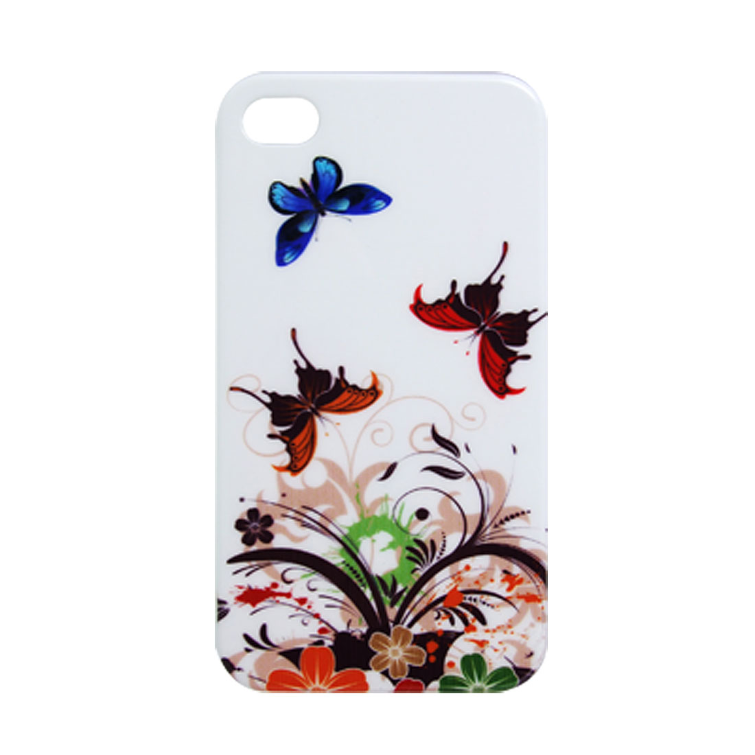 Butterfly Print Hard Plastic Back Case for iPhone 4 4G