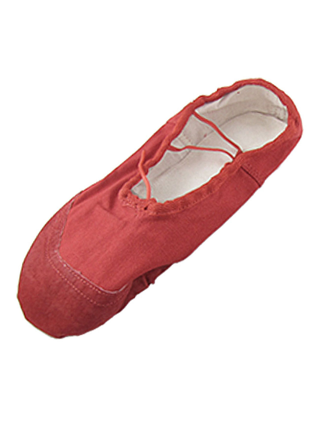 Ladies Dancing Ballet Red Crossover Elastic Band Flat Shoes US Size 7.5