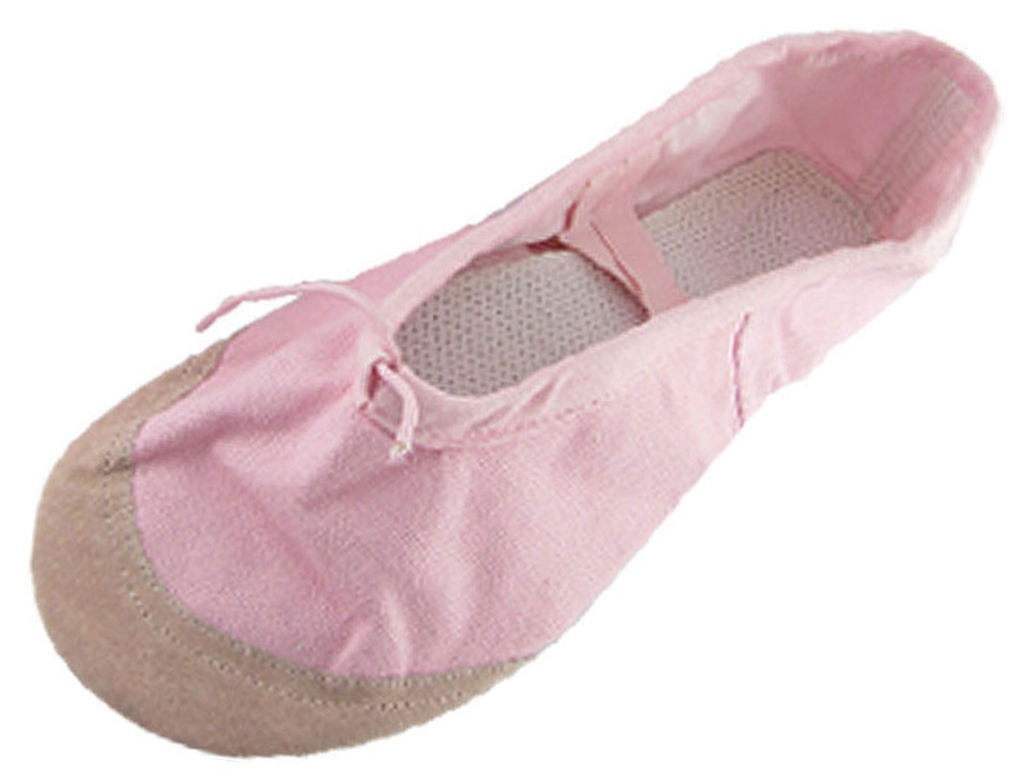Lady Pink Crossover Canvas Ballet Flat Shoes US Sz 9.5