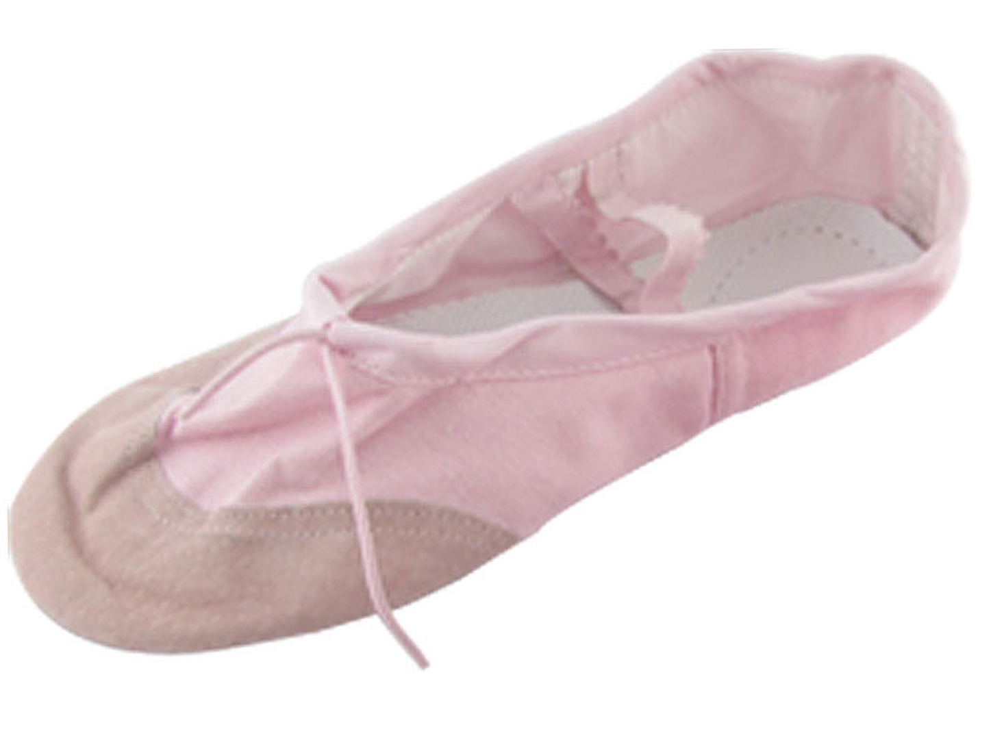 Ladies Dancing Ballet Pink Crossover Canvas Elastic Band Flat Shoes US Size 6