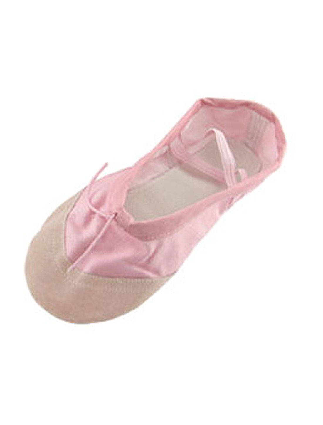 Girls US Size 1 Pink Dancing Ballet Crossover Elastic Bands Flat Dance Shoes