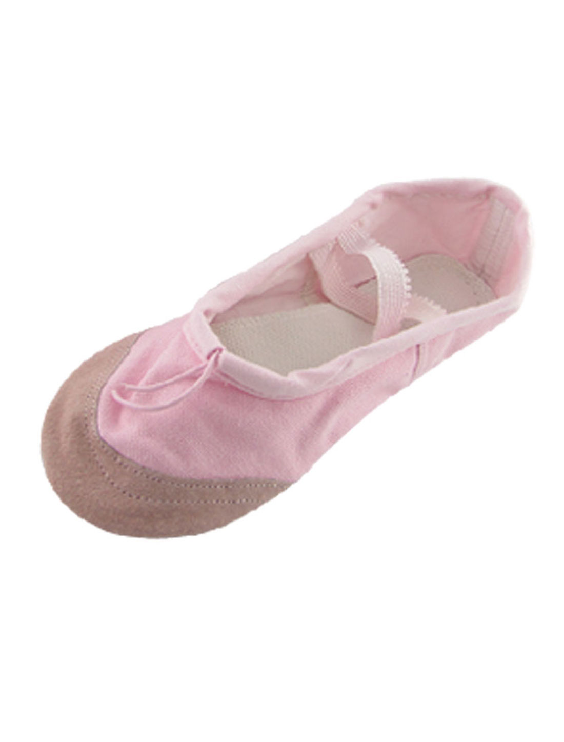 Girls Pink Dancing Ballet Crossover Elastic Bands Flat Dance Shoes US Size 1.5