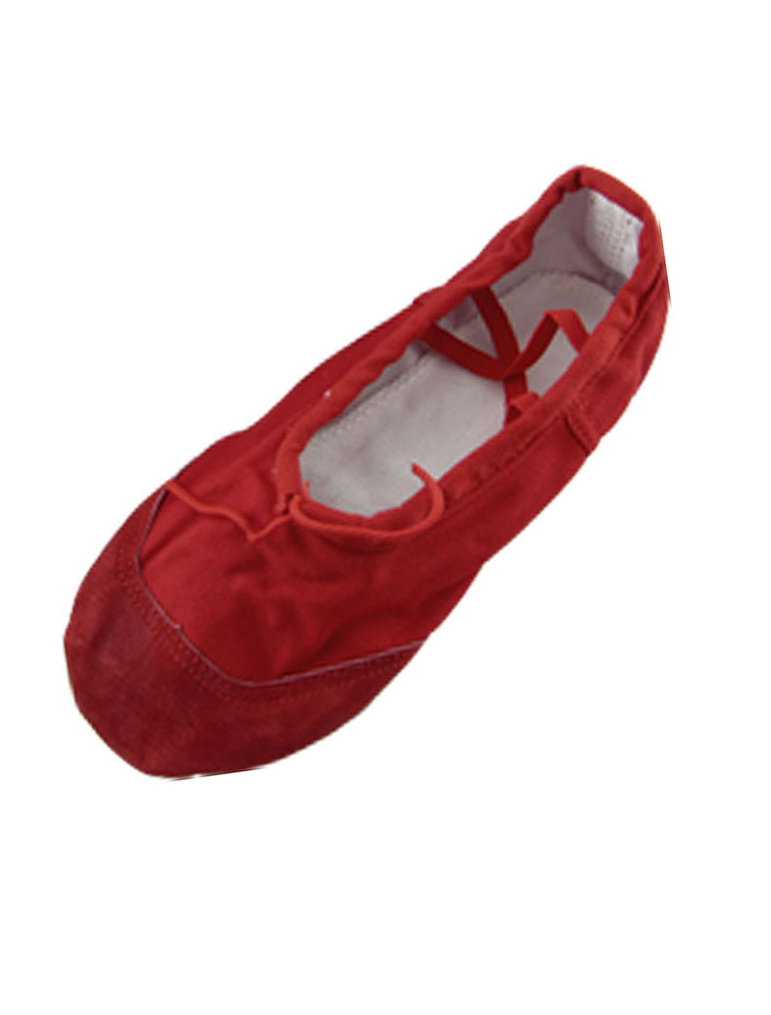 Girls Red Soft Canvas Elastic Band Ballet Dancing Shoes US Size 1