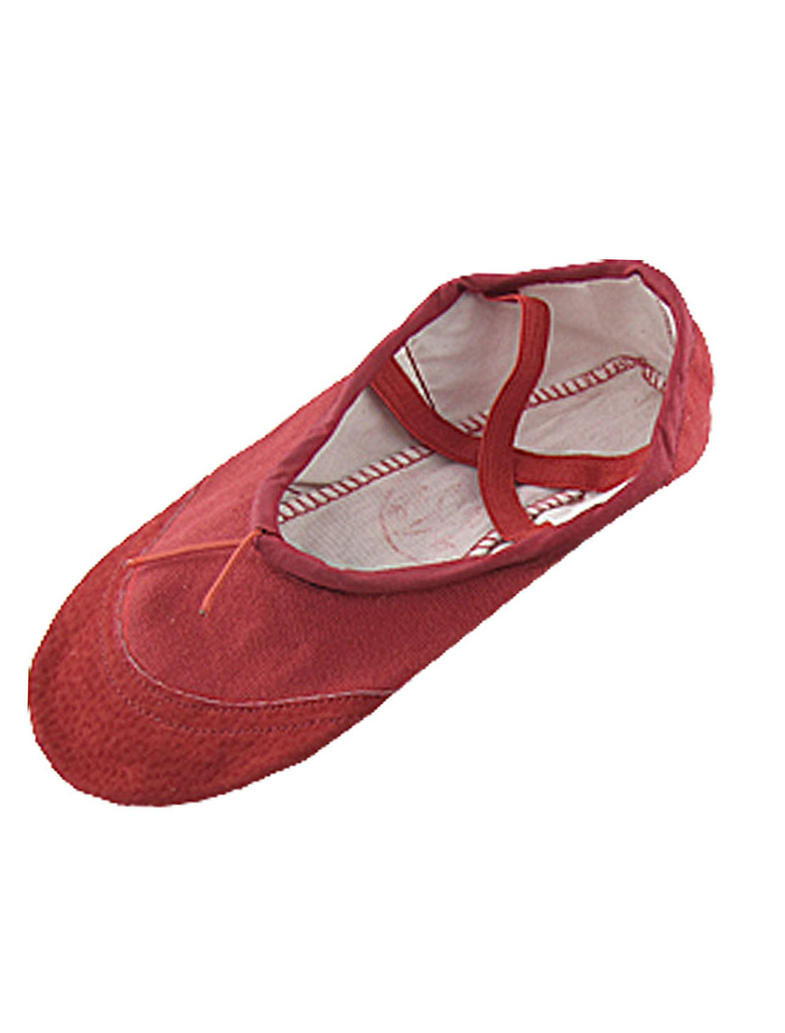Girls Gymnastics US Size 1 Dancing Ballet Red Soft Canvas Flat Shoes