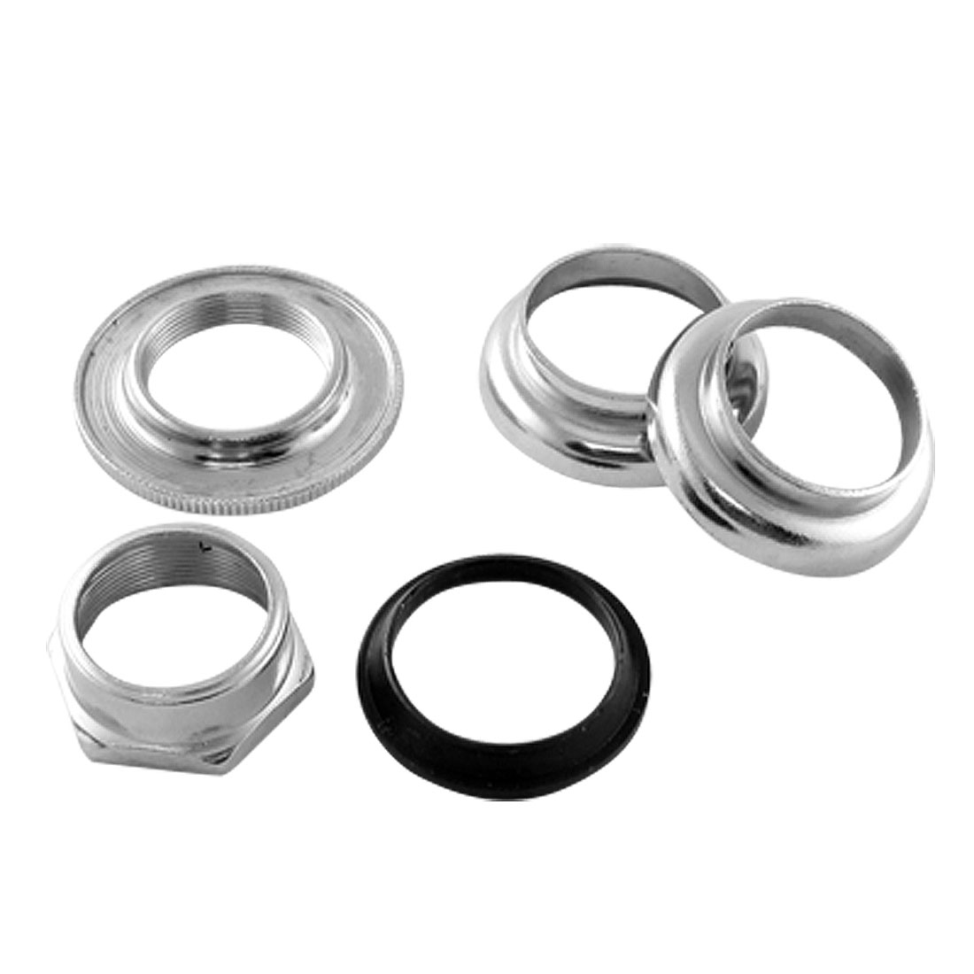 "Silver Tone Bicycle Bike 1"" Inner Diameter Head Set Parts"