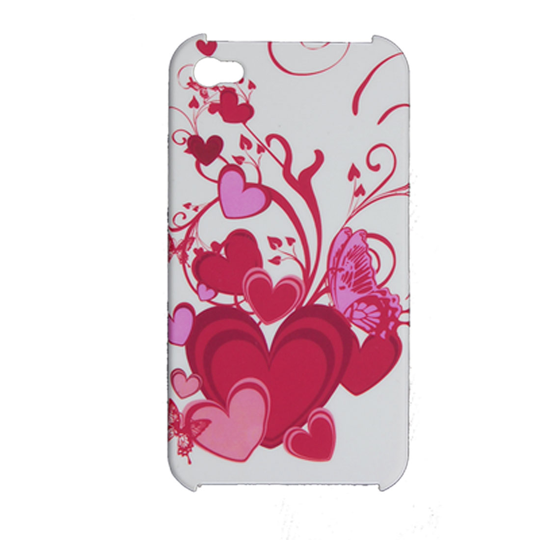 Heart Pattern Case + Screen Guard + Duet-free Stopper for iPhone 4 4G