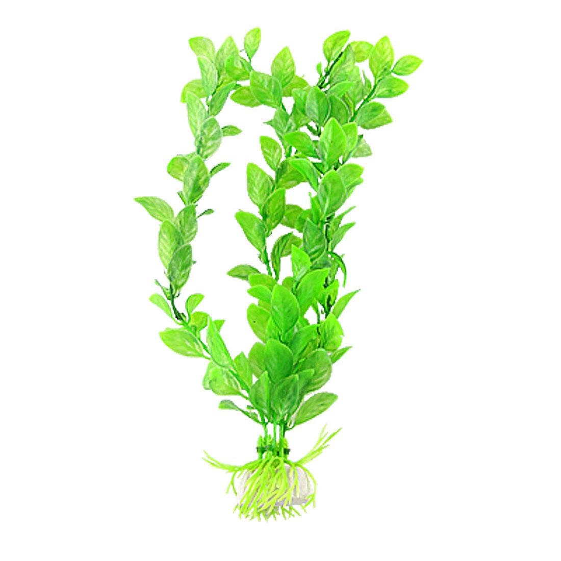 For Tank Aquarium Green Plastic Decor Grass Ornament