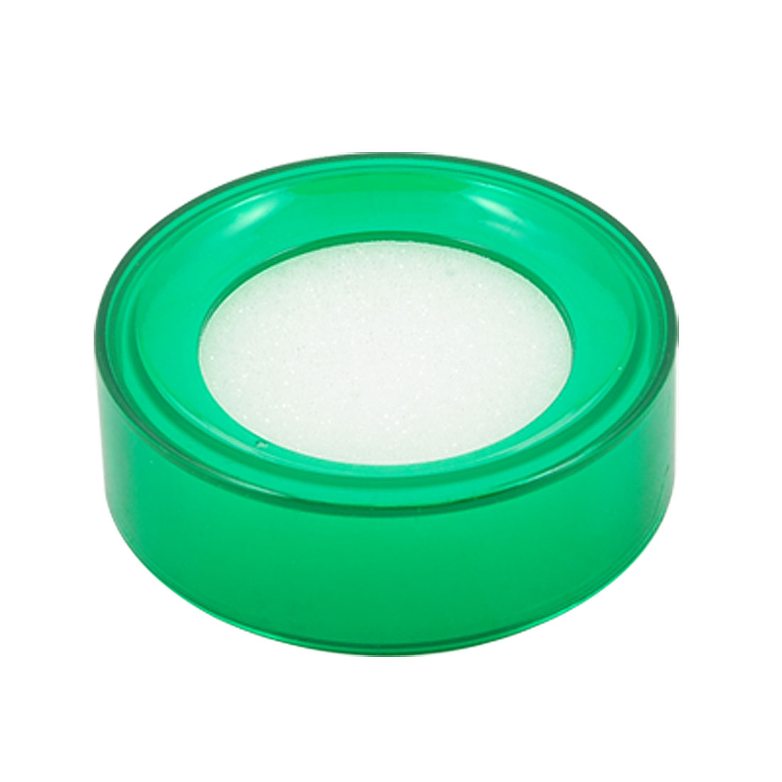 Store Cashier Round Plastic Bottle Sponge Finger Wet Money Casher Green