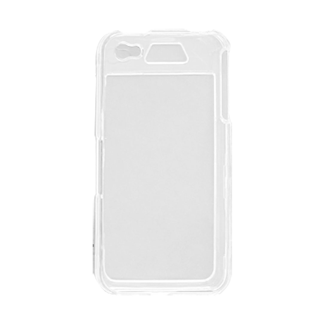 Clear Crystal Shell w Purple Neoprene Armband for iPhone 4