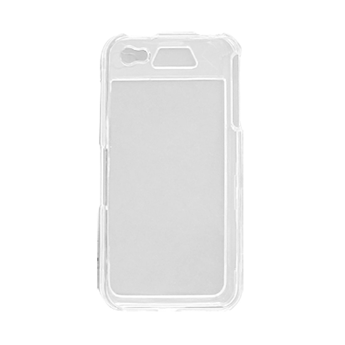 Black Neoprene Armband w Clear Hard Plastic Shell for iPhone 4