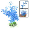 For Fish Tank Vividly Plastic Grass Decoration Blue 4""