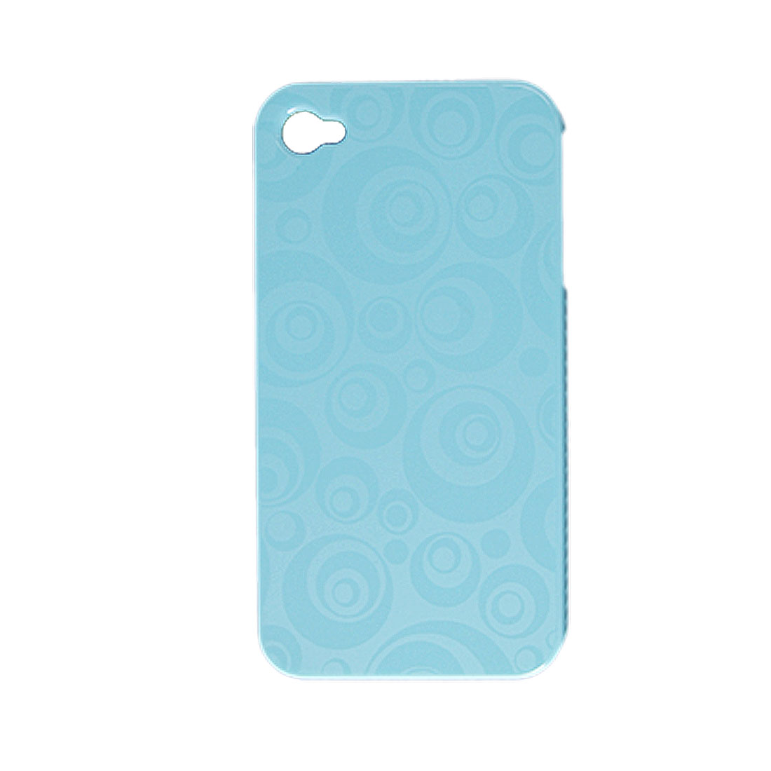 Hard Plastic Baby Blue Circle Print Back Case Cover for iPhone 4