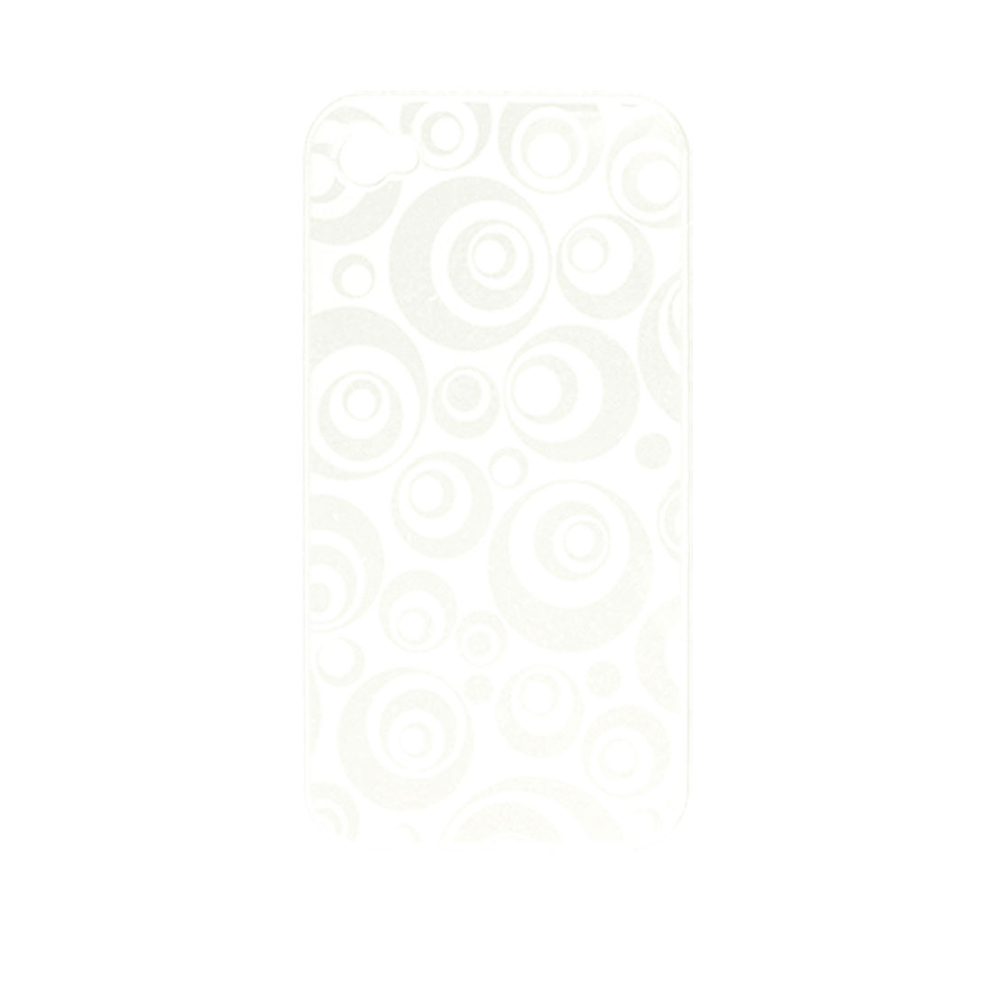Circle Pattern White Hard Plastic Back Case Protector for iPhone 4