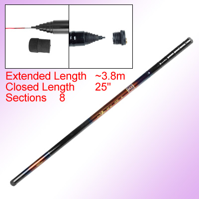 Fresh Water Telescope-feed 3.8m Fishing Pole w 8 Section