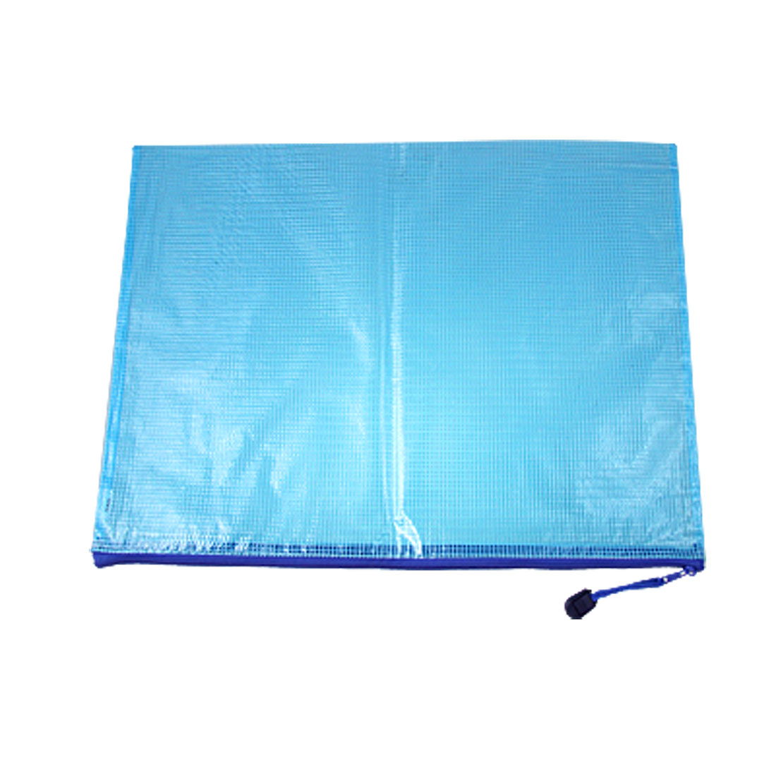 Blue Zipper Closure B4 Document File Holder Plastic Bag