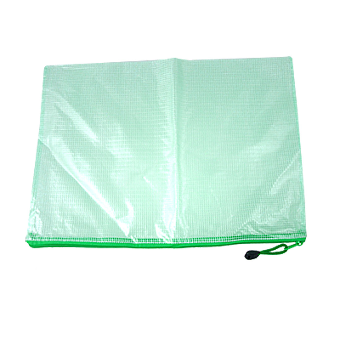 Soft Plastic Green Zipper Closure File Bag Holder