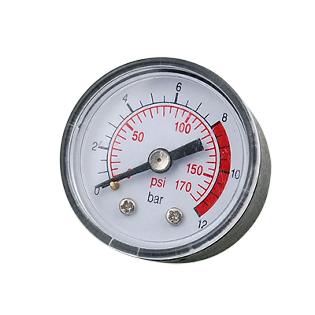 Black Clear 170 Psi Compressor Pressure Gauge Measurement Tool