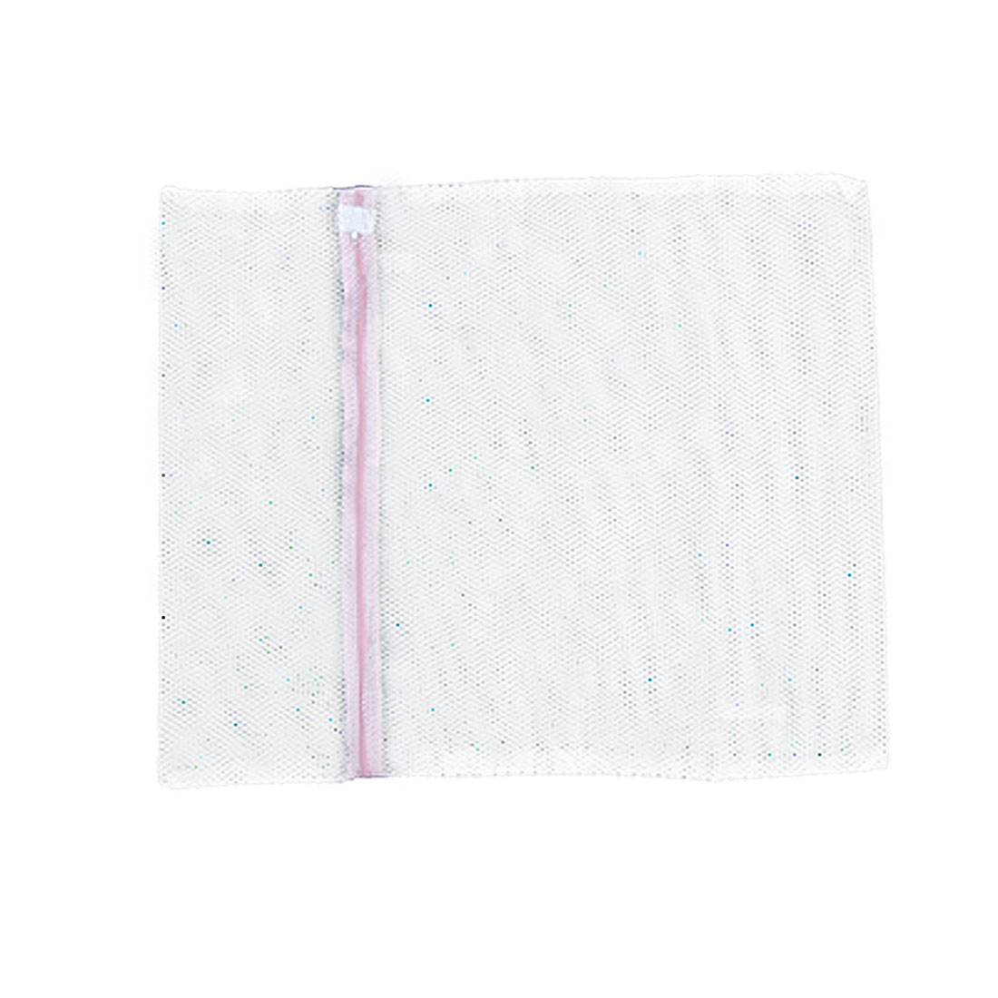 Laundry White Mesh Pink Zipper Washing Machine Bag