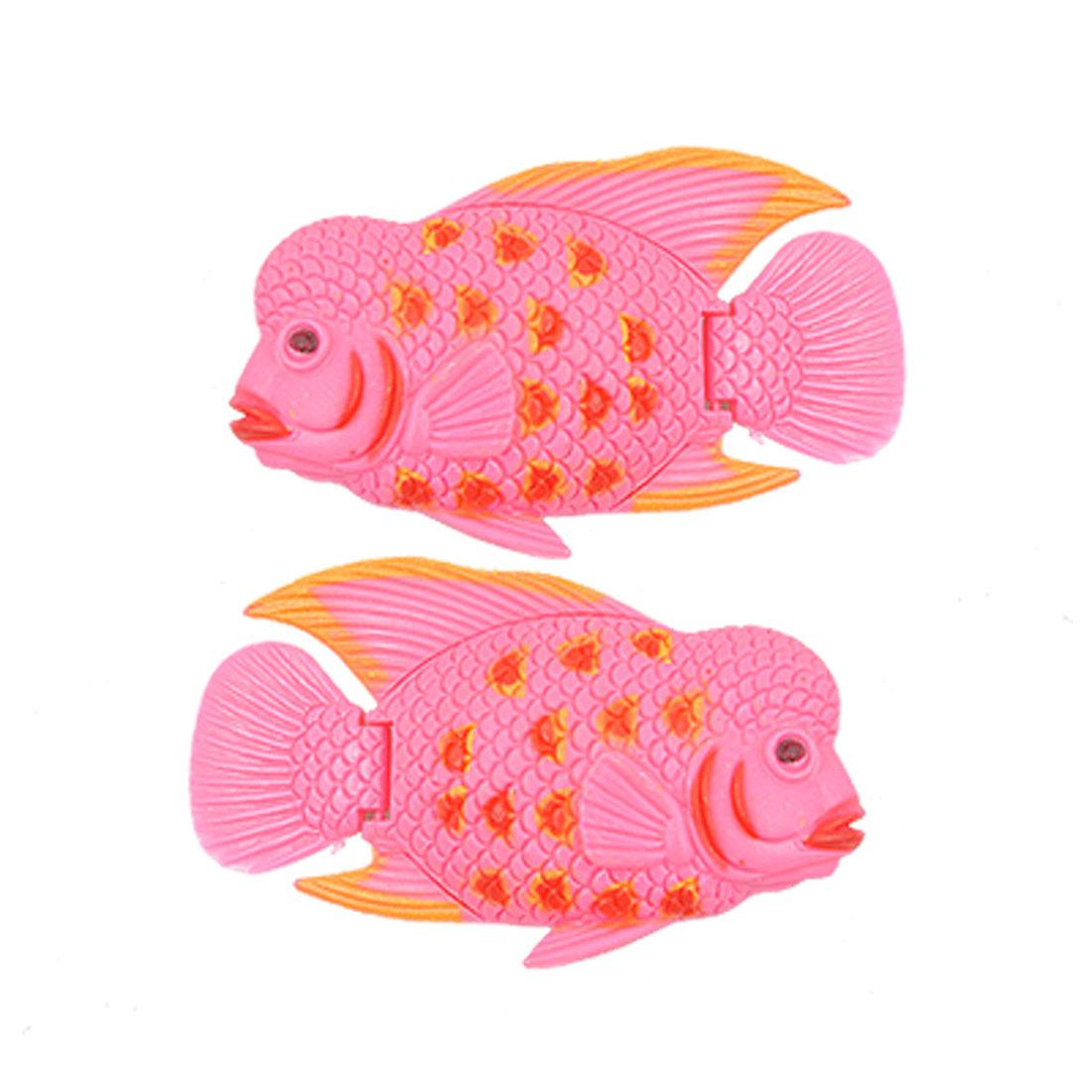 2 pcs Aquarium Fish Tank Plastic Floating Fishes Decoration
