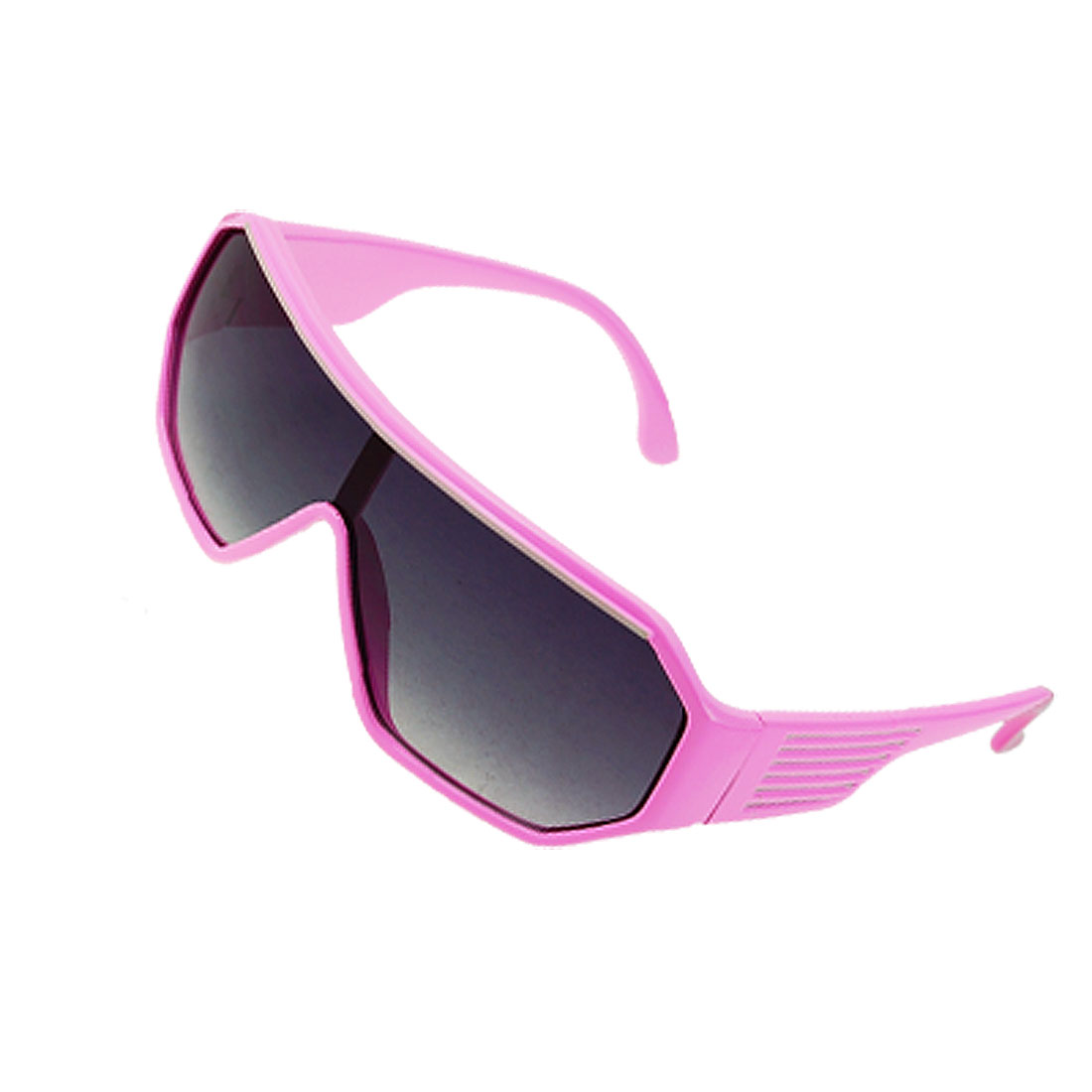 Kids Pink Plastic Frame Dark Lens Outdoor Sports Sunglasses