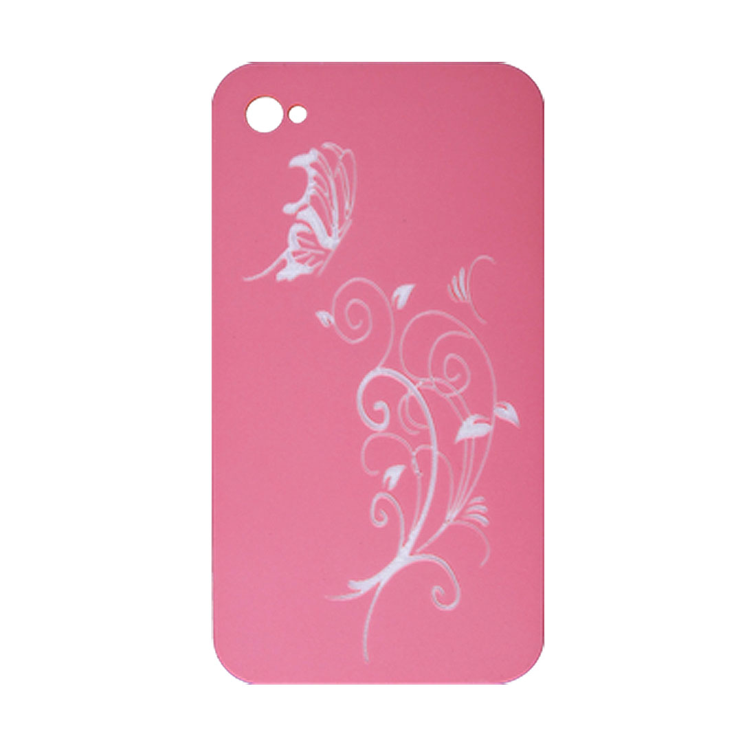 Dark Pink Non Slip Hard Plastic Protector w Car Caharger for iPhone 4