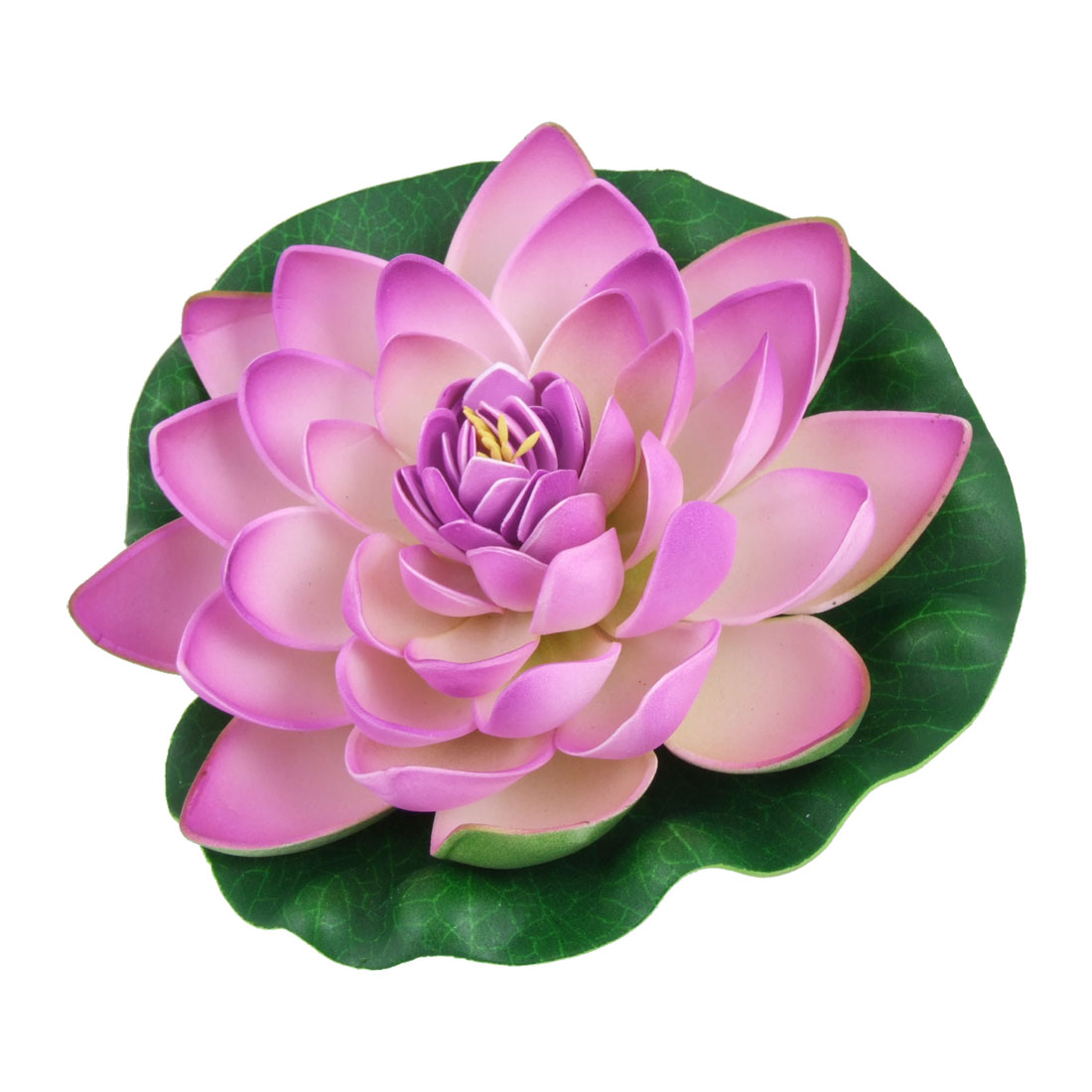 Pink Purple Floating Lotus Ornament for Aquarium Fish Tank
