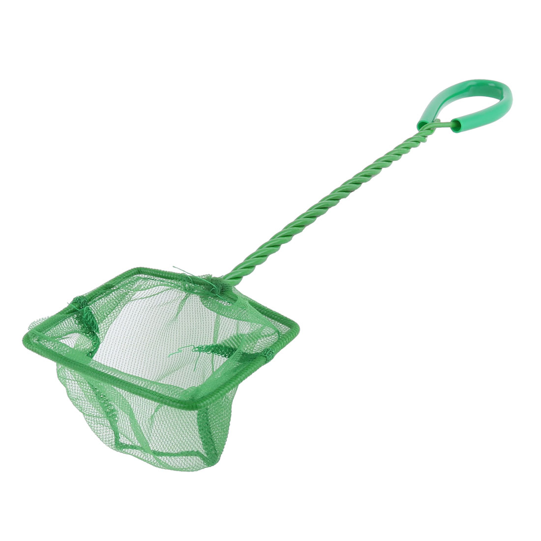 Metal Plastic Twisted Handle Green Small Fish Net