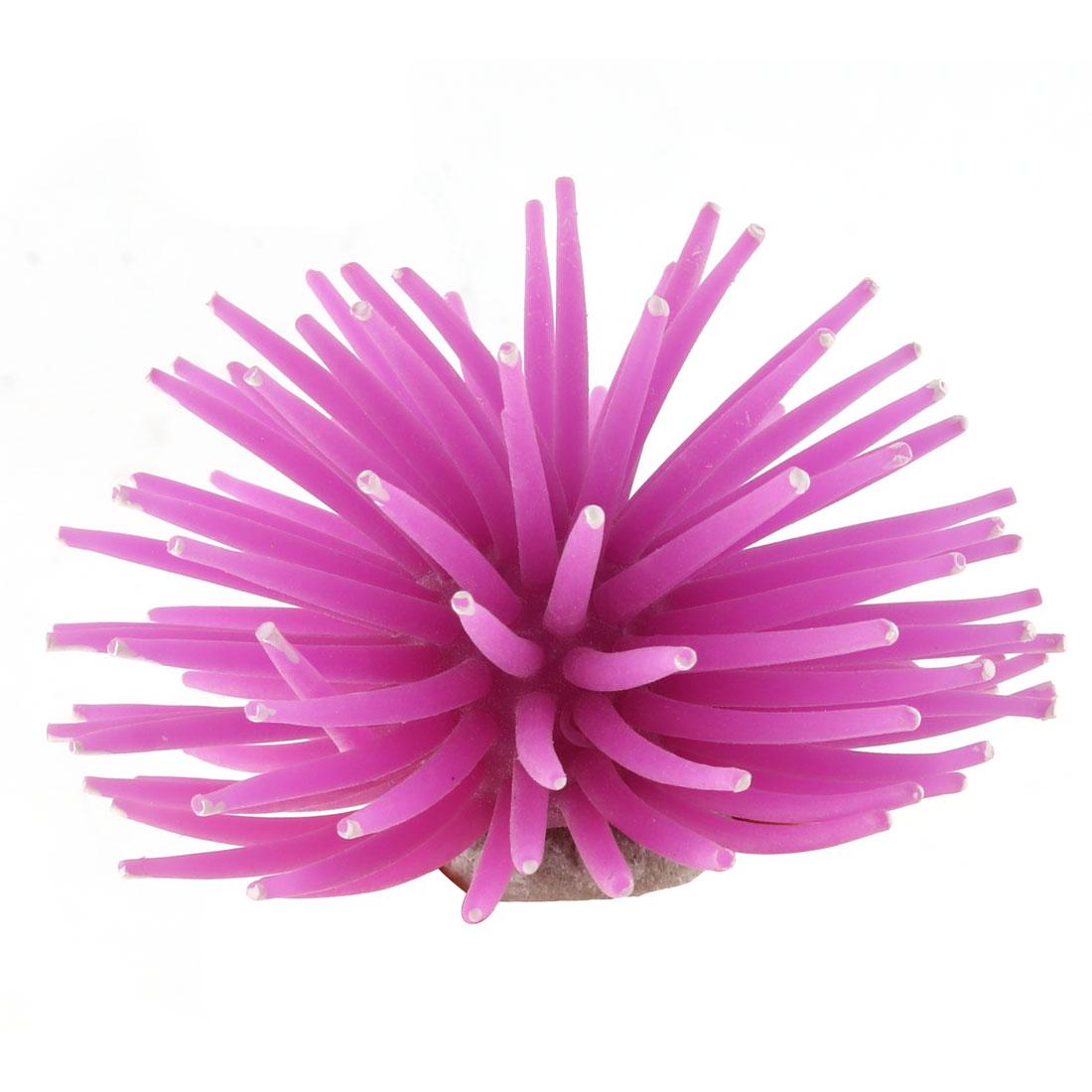 Aquarium Purple Silicone Decor Coral Design Tank Ornament