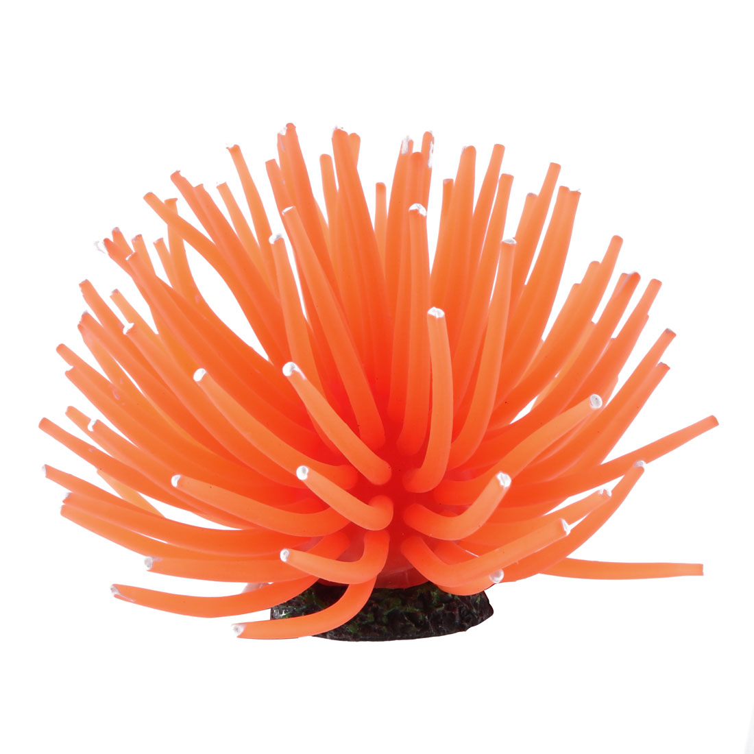 Orange Red Coral Design Decorative Ornament for Aquarium