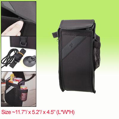 Auto Car Black Zippered Nylon Bag Trash Organizer