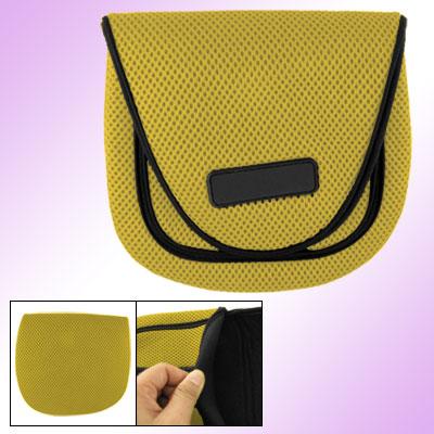 Size Small Yellow Black Hook and Loop Fastener Closure Fishing Reel Bag Case