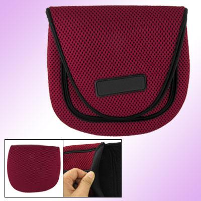Red Black Mesh Design Fishing Reel Bag Case Size Large
