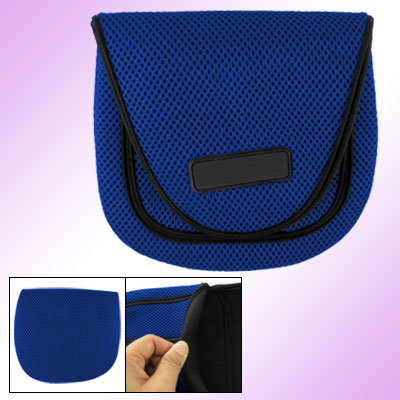 Size Medium Blue Black Protective Fishing Reel Bag Case