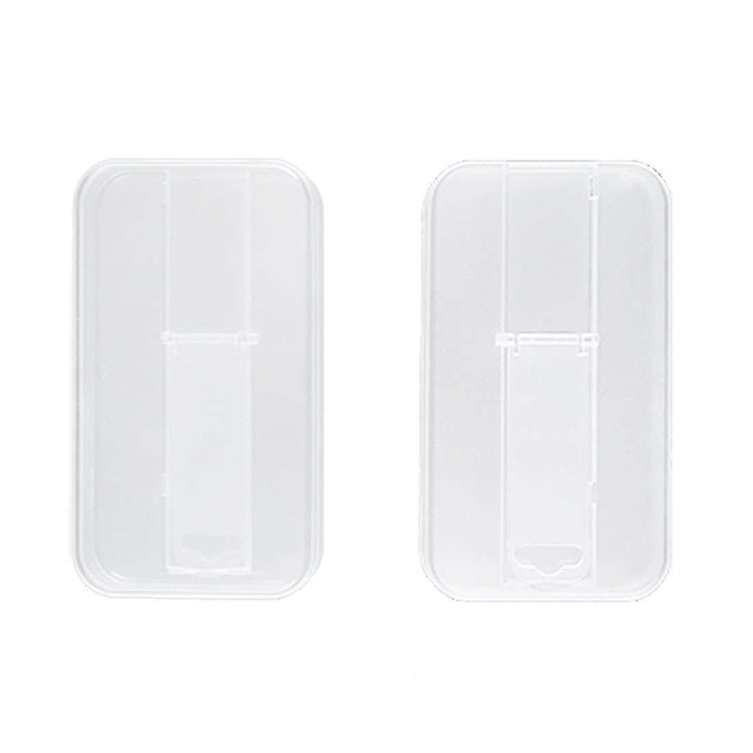Clear Hard Plastic Stand Holder Case for iPhone 4 4G