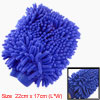 Car Auto Vehicle Cleaning Microfiber Mitten Glove Blue