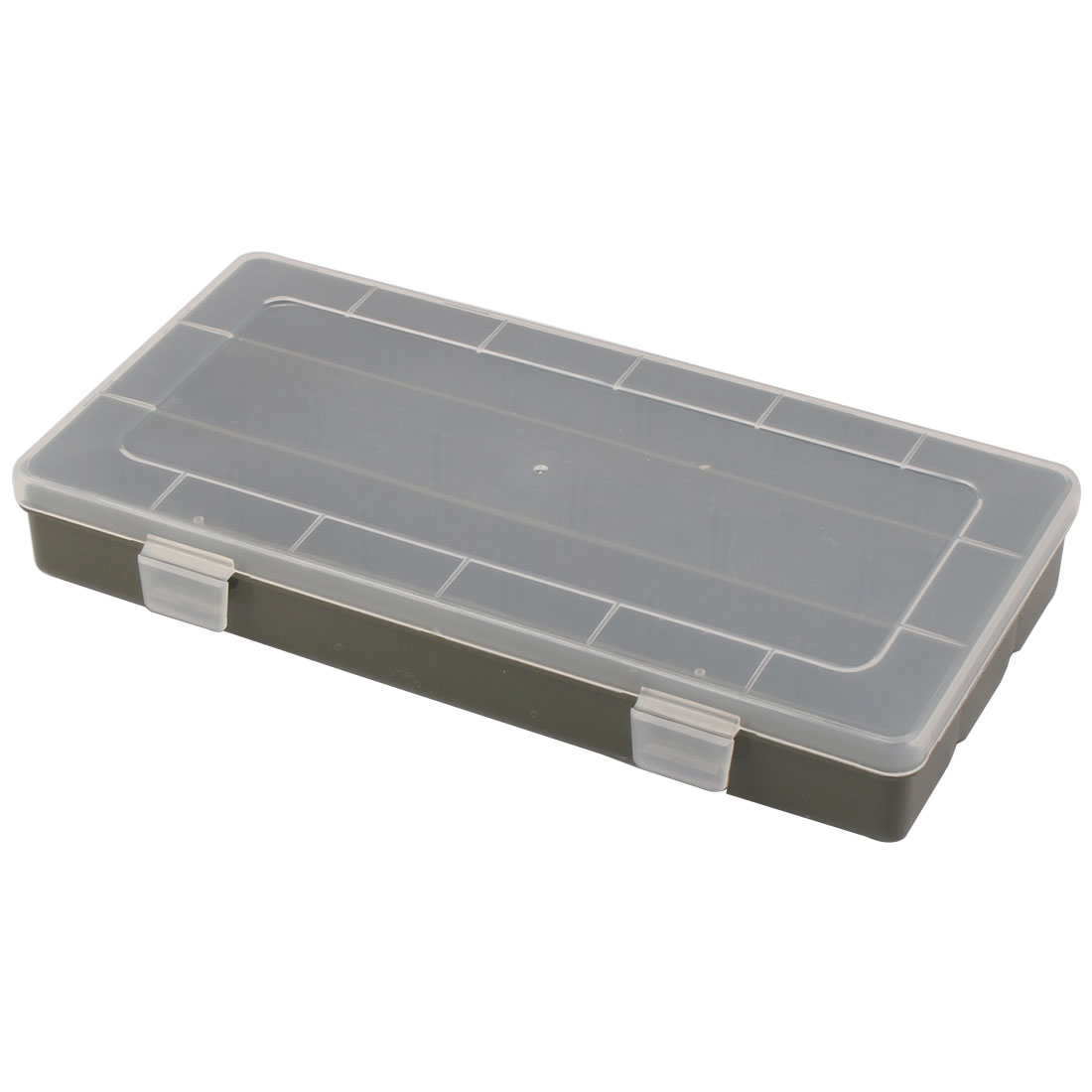 Clear White Olive Green Plastic Fishing Tackle Hook Case