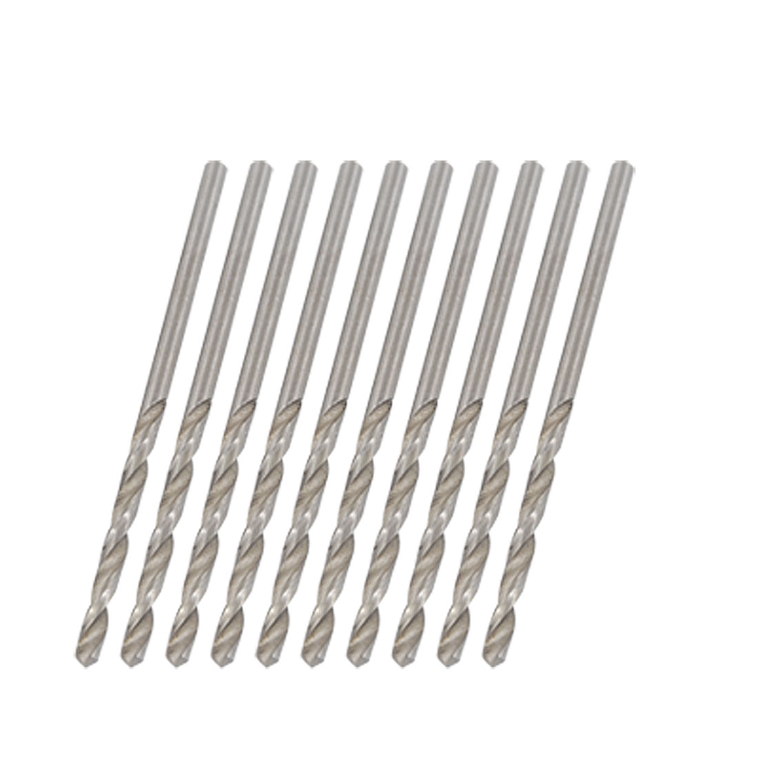 Helix Flute 2.1mm Diameter Metal Spiral Twist Drill Bit 10 PCS