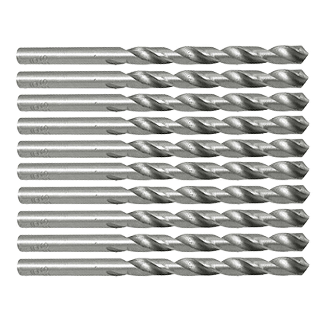 5mm Diameter Steel Straight Shank Twist Drill Bits Set 10 Pcs