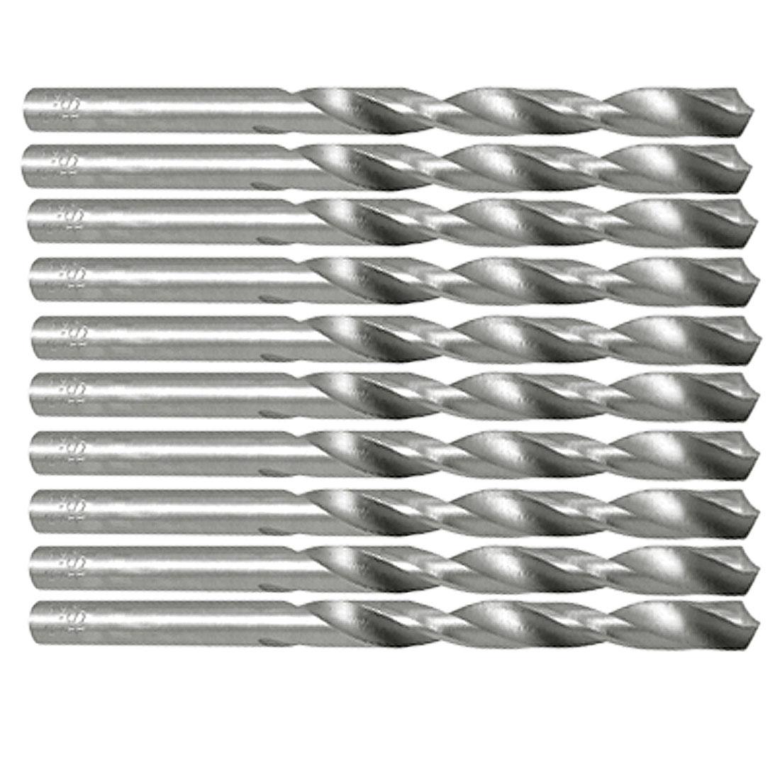 5.2mm Diameter HSS Steel Straight Shank Twist Drill Bits Tips 10pcs