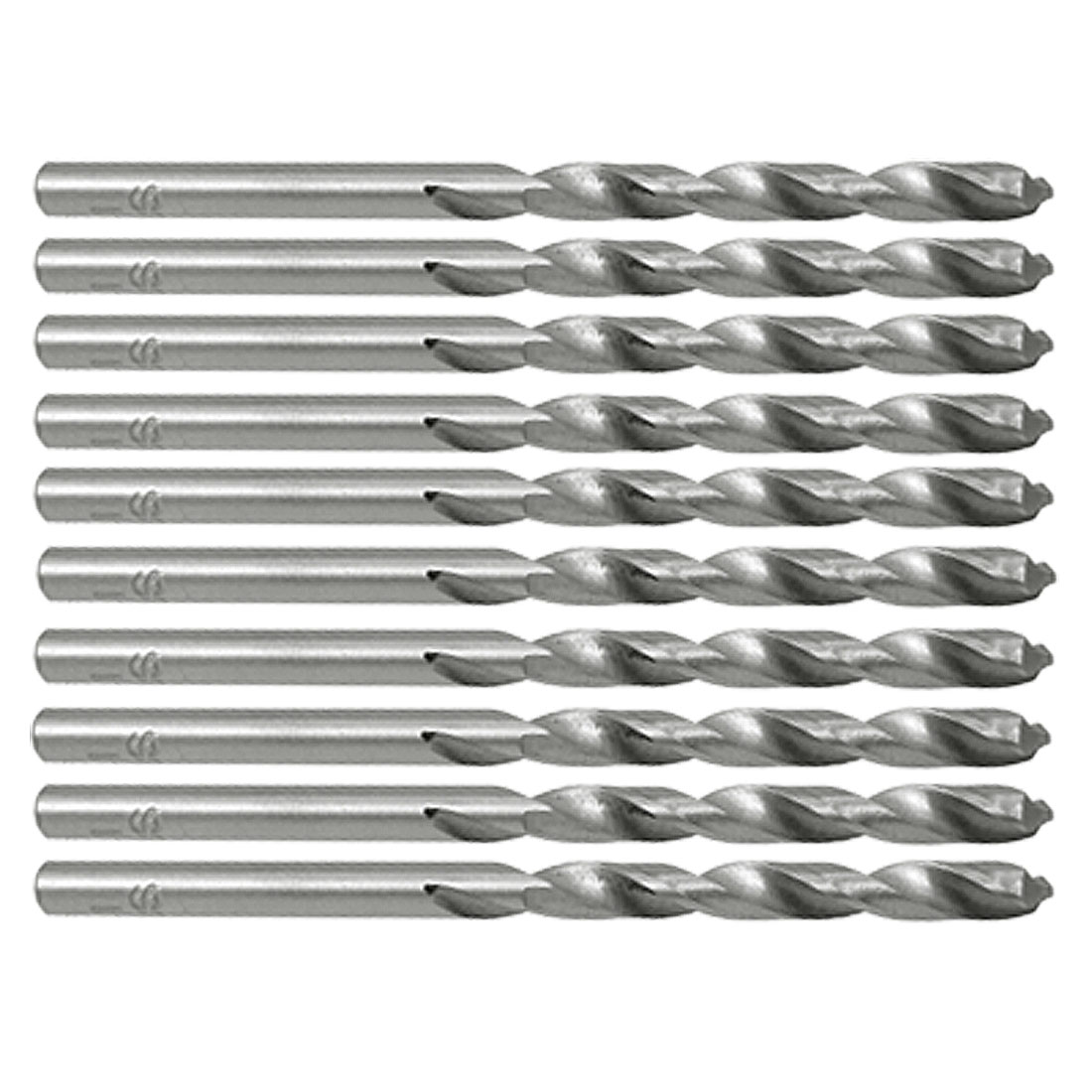 4.1mm Dia Right-hand HSS Straight Shank Twist Drill Bits 10pcs
