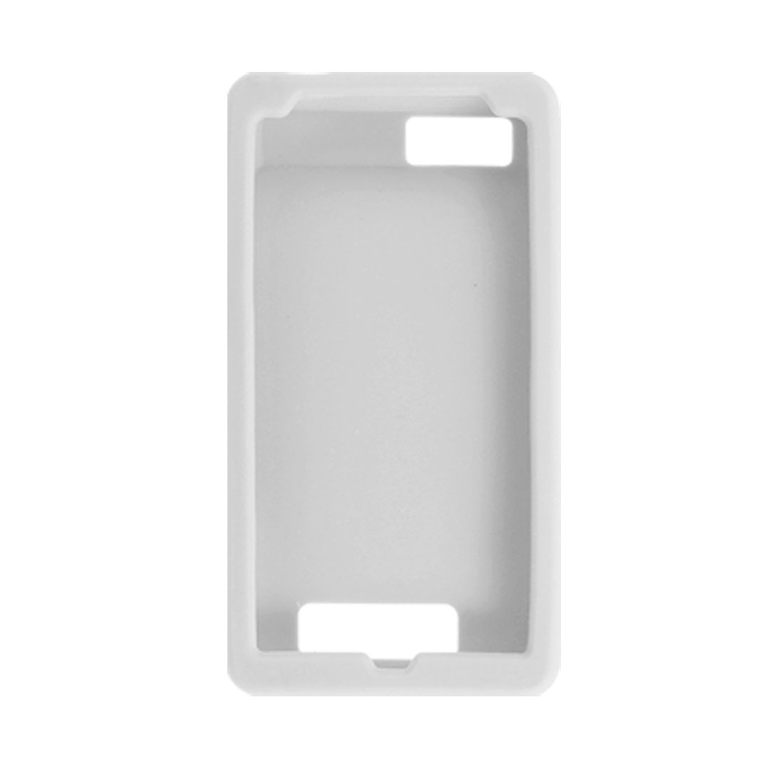 Clear White Soft Silicone Skin Case for Motorola Droid X MB810