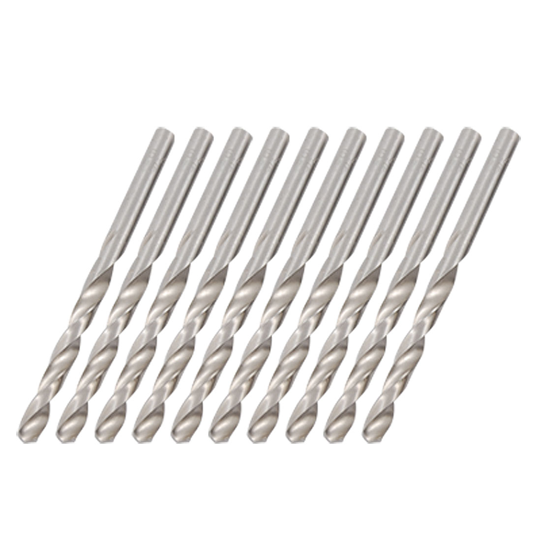 5.4mm Dia Right-hand HSS Straight Shank Twist Drill Bits 10pcs