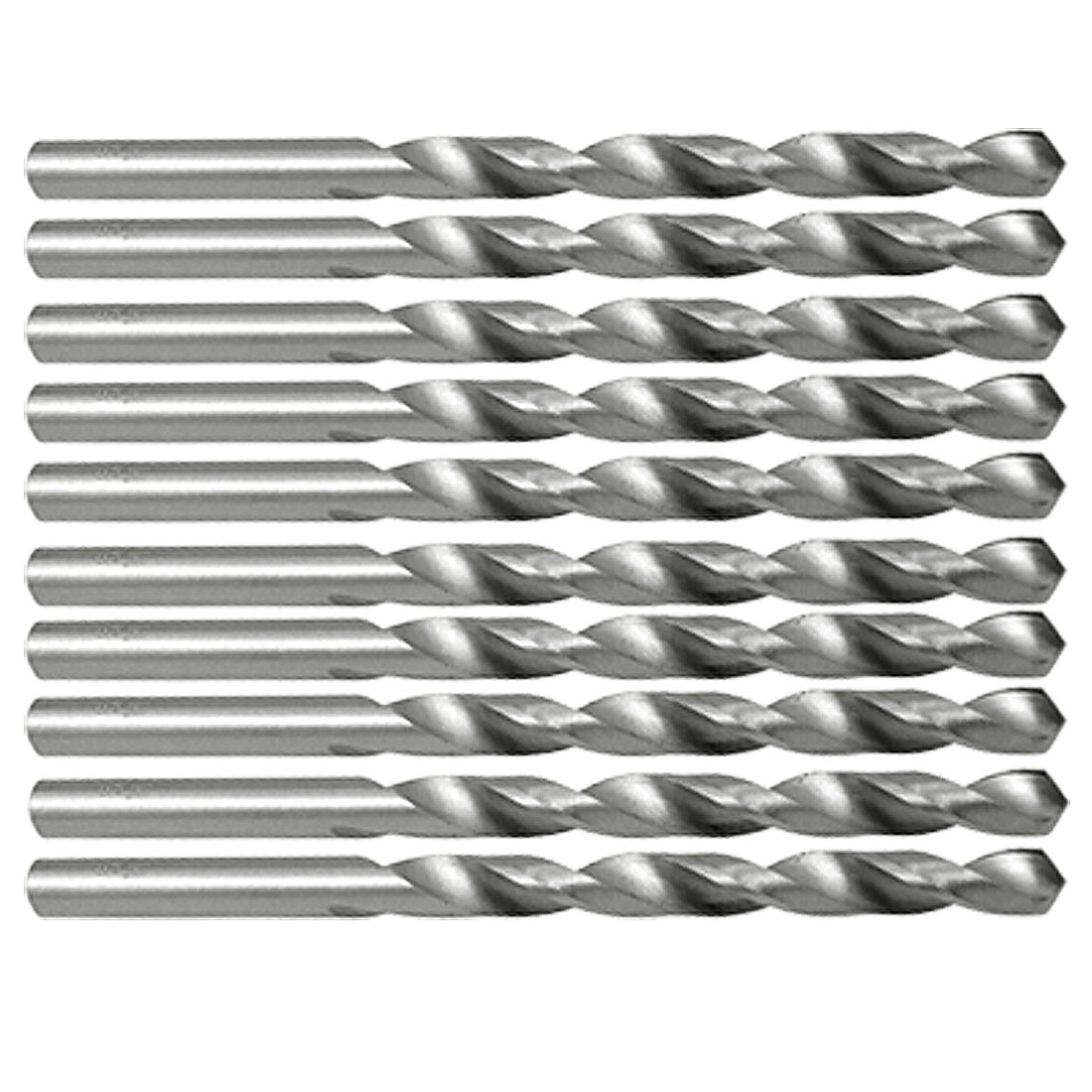 5.6mm Diameter Straight Shank HSS Steel Twist Drill Bits 10pcs