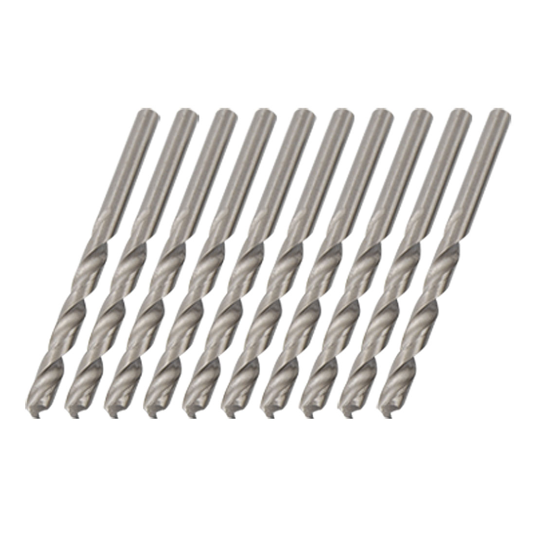 5.7mm Metal Drilling HSS Straight Shank Twist Drill Bits 10pcs