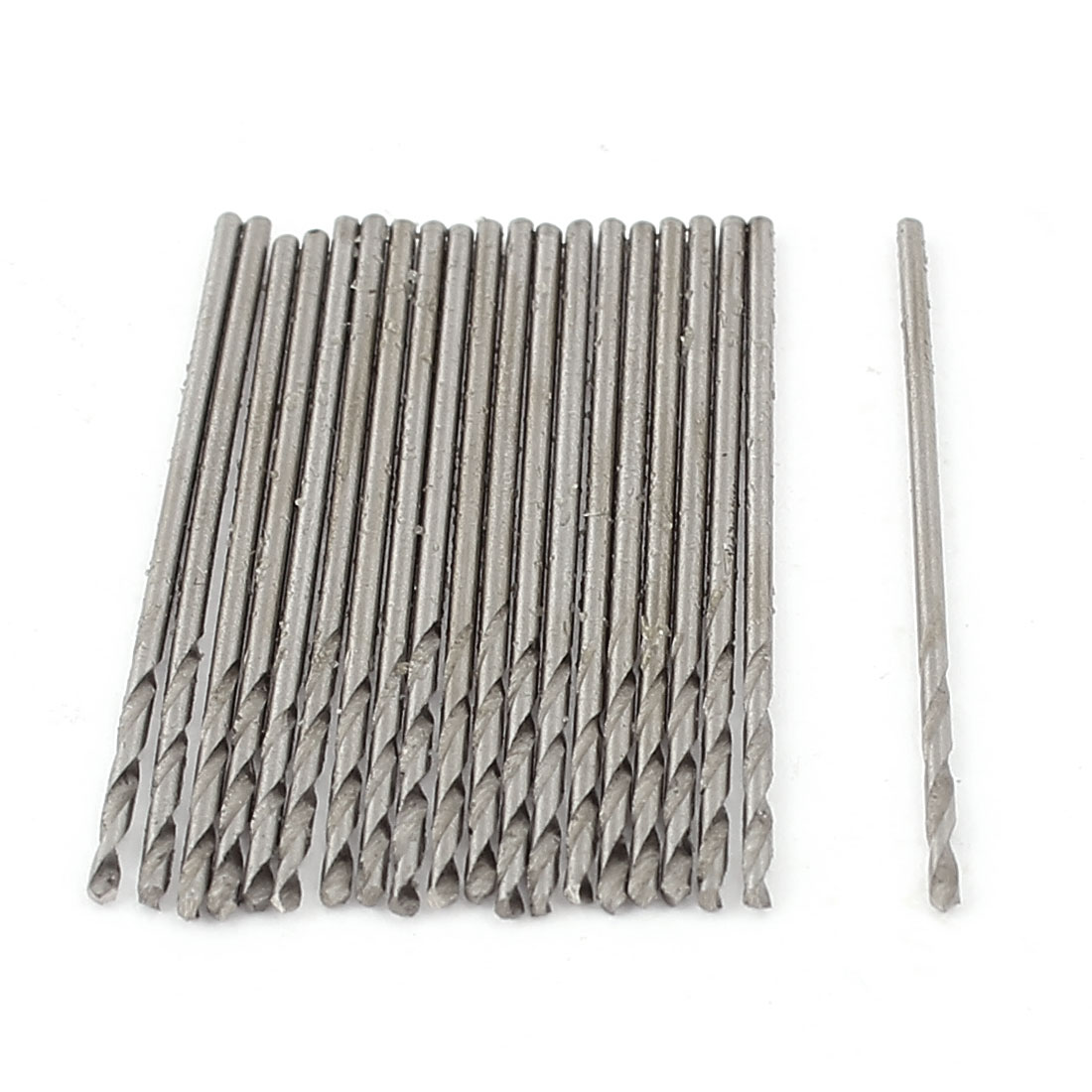 1mm Diameter 20pcs Straight Shank Twisted Drill Bit Tip
