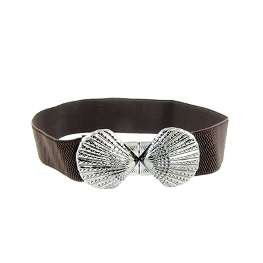 Coffee Bow Design Buckle Elastic Fashion Decor Waist Belt for Lady