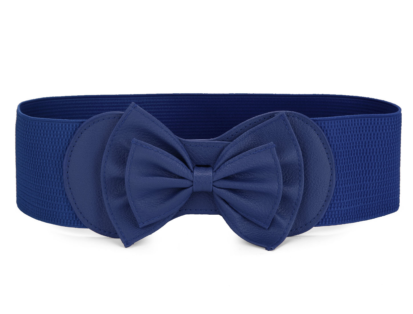 Royal Blue Butterfly Knot Buckle Elastic Waist Belt for Ladies